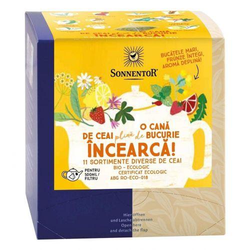 INCEARCA! - O Cana de Ceai plina de Bucurie - 12 filtre diverse sortimente