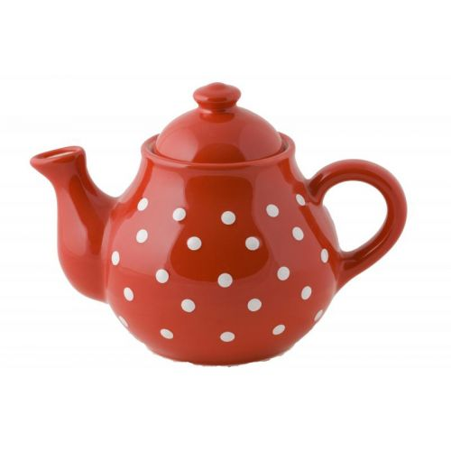 Cana de Ceai Rosie cu Buline