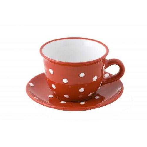 Ceasca de Ceai Rosie cu Buline