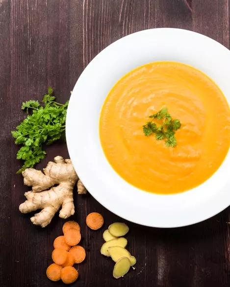 Supă de morcovi cu ghimbir