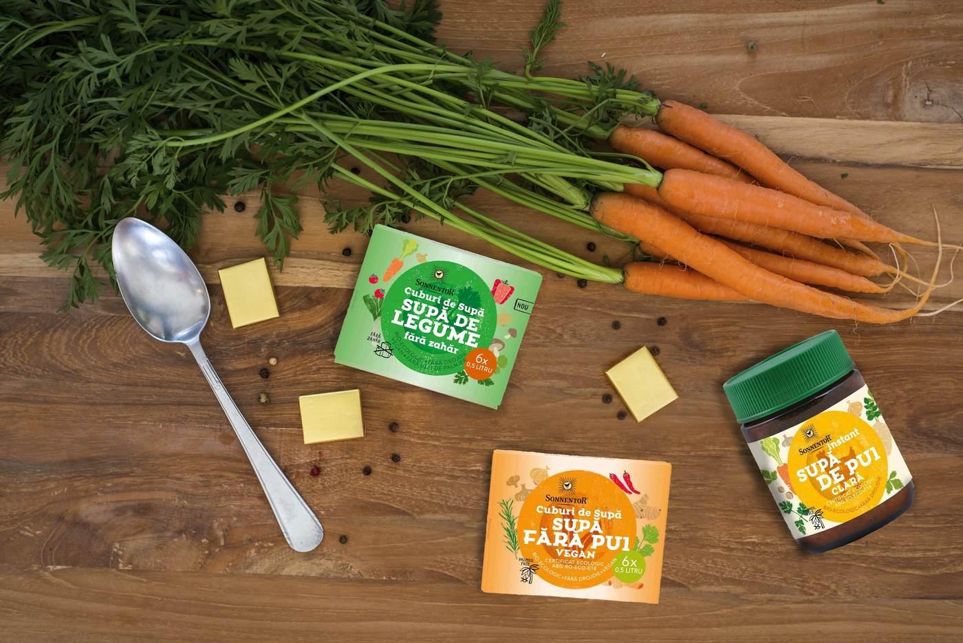 Cuburi Supă și Supă Instant, Fără Zahăr